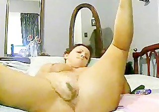 mom wife plays with dildo when dad at work