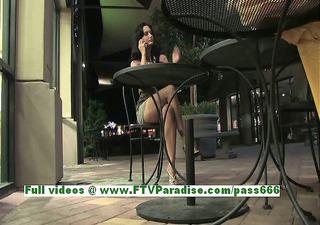 luna breasty carnal dark brown woman public