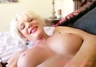 sexy golden-haired aged cumshot older mother i