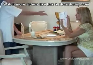 Mom gets fucked by her own son - HornBunny.com