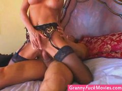 gilf still loves a hard cock in her old muff