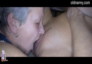 Old granny and sexy girl